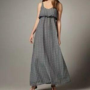Patterson j Kincaid printed maxi dress gray xs